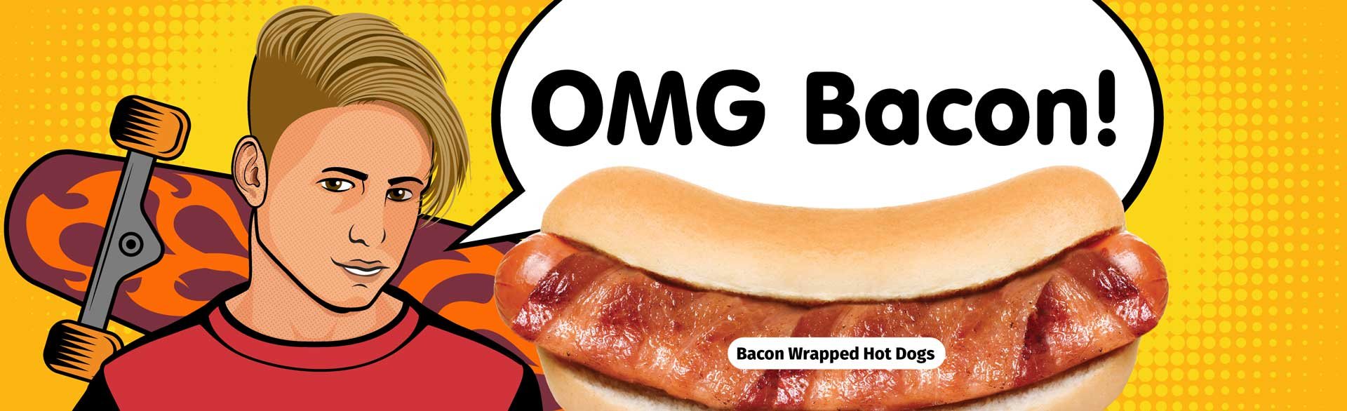 OMG Bacon! Bacon Wrapped Hot Dogs