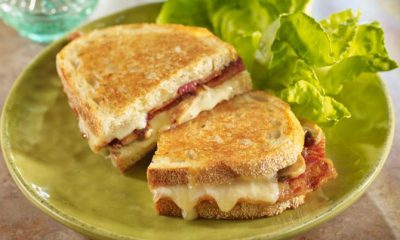 Grilled CHeese, Bacon and Mushroom Sandwich