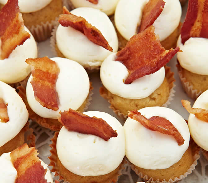 Cream Cheese and Bacon Cupcakes