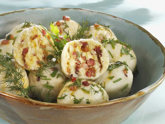 Potato Dumplings with Bacon