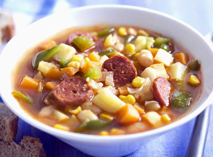 Mexican White Bean and Sausage Soup