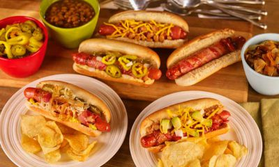 Hoffy Football Themed Hot Dogs Loaded Game Day