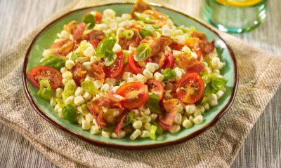Corn Tomato Hoffy Bacon Salad