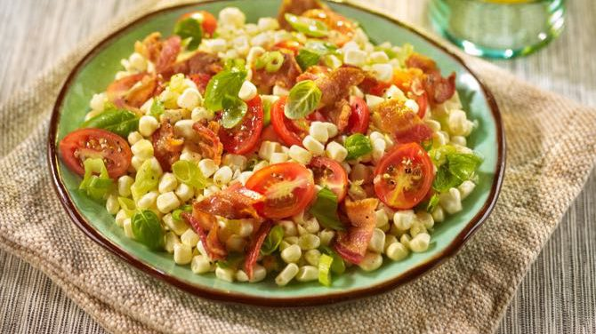 Corn Tomato Hoffy Bacon Salad