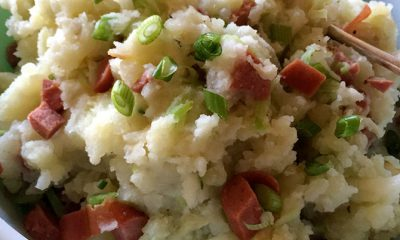 Picnic Mashed Potatoes with Hot Dogs