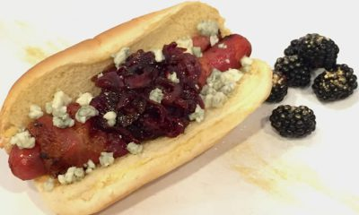 HOFFY Glam Hot Dog with Truffle Oil and Crumbled Gorgonzola