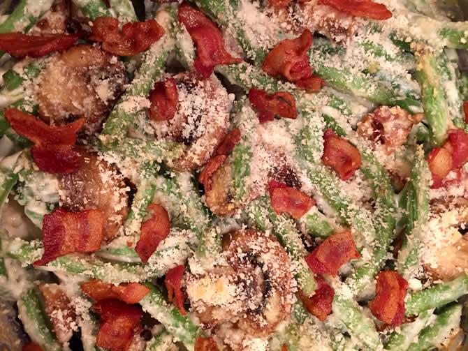 Hoffy Bacon Green Bean Casserole