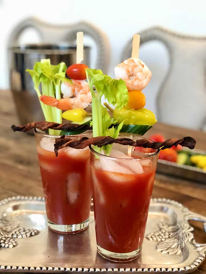 The Best Bloody Mary Recipe Has Bacon Swizzle Sticks Recipe By Hoffy