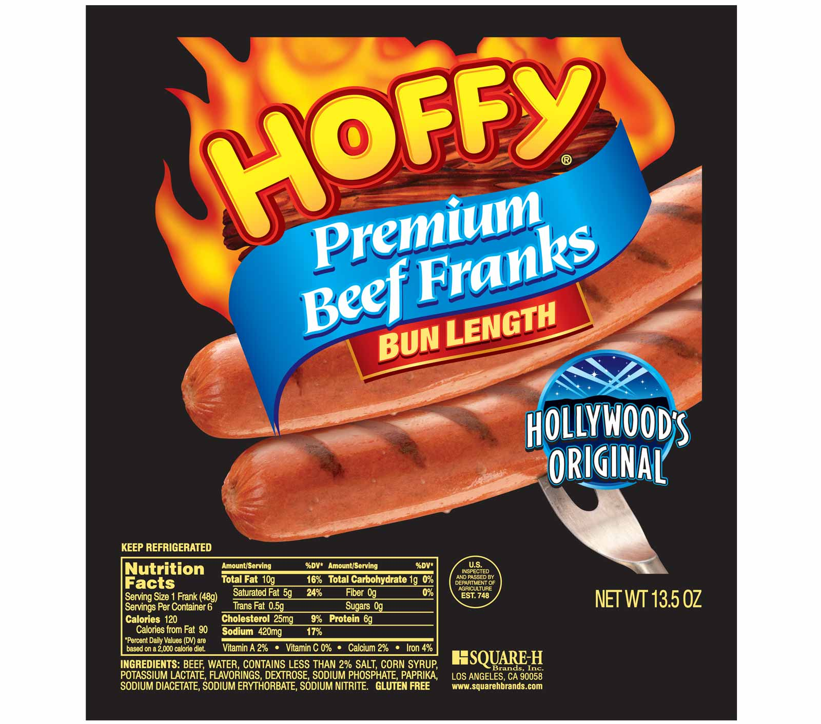Bun Length Premium Beef Franks