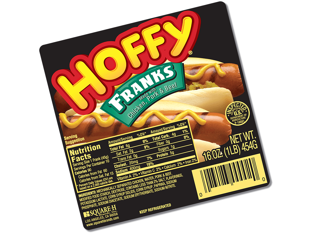Hoffy: Chicken, Pork and Beef Franks (1144)