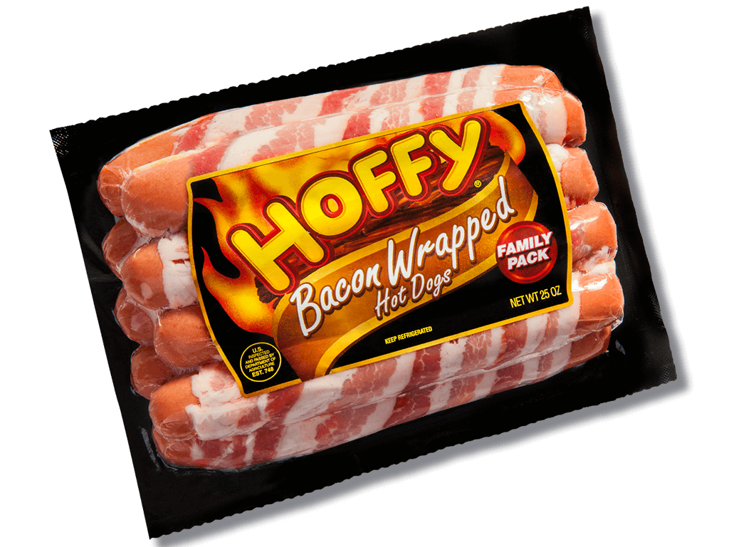 Hoffy: Family Pack Bacon Wrapped Hot Dogs