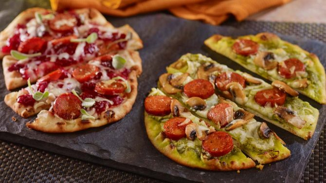 ANDOUILLE FLATBREAD PIZZA
