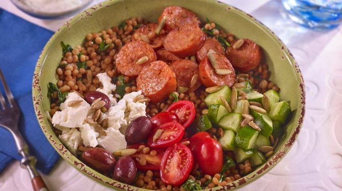 Mediterranean Greek Style Sausage Bowl
