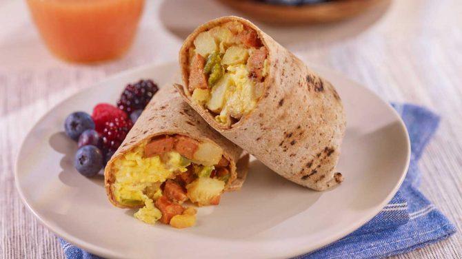 Hoffy Andouille Sausage Breakfast Wrap
