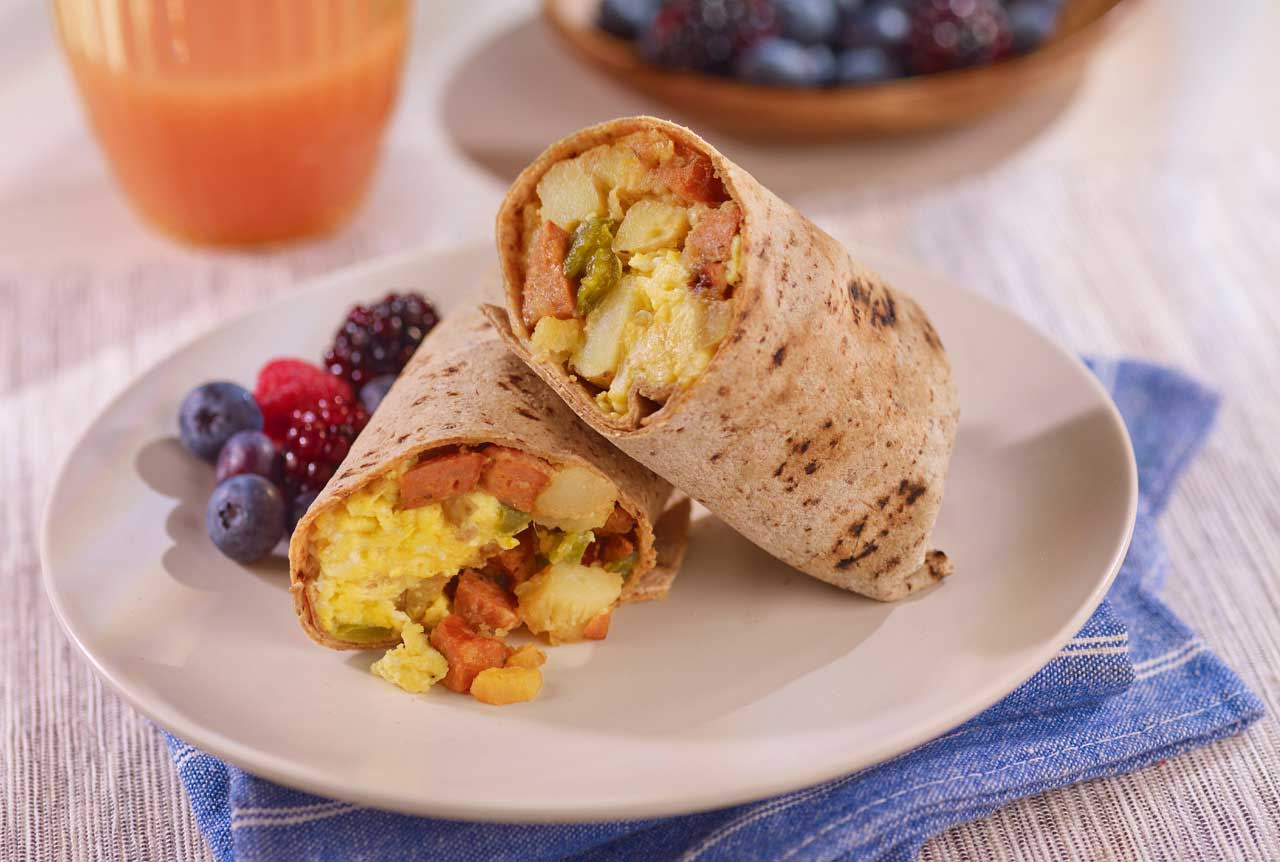 Hoffy Andouille Sausage Breakfast Wrap