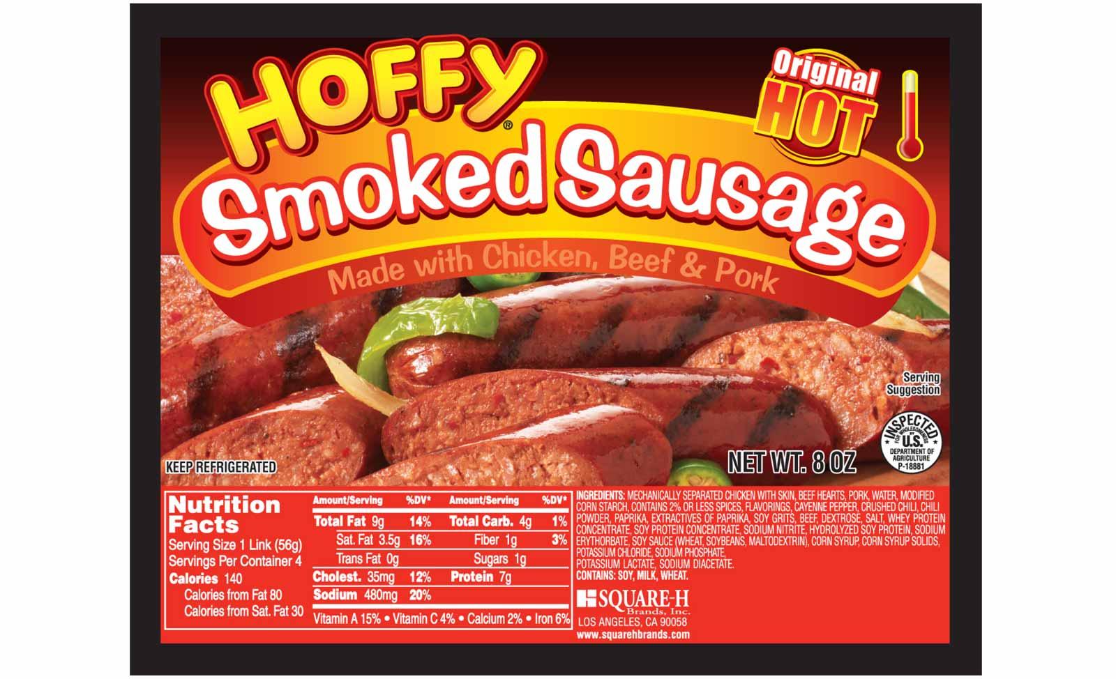 Hoffy Smoked Sausage Packaging
