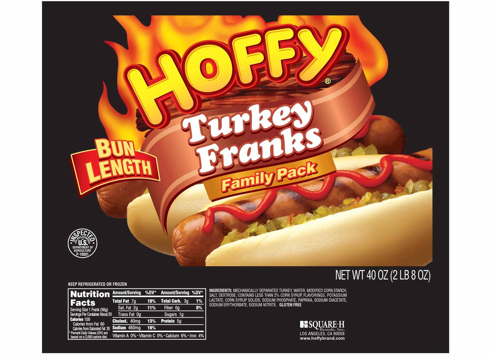 Bun Length Turkey Franks – Family Pack