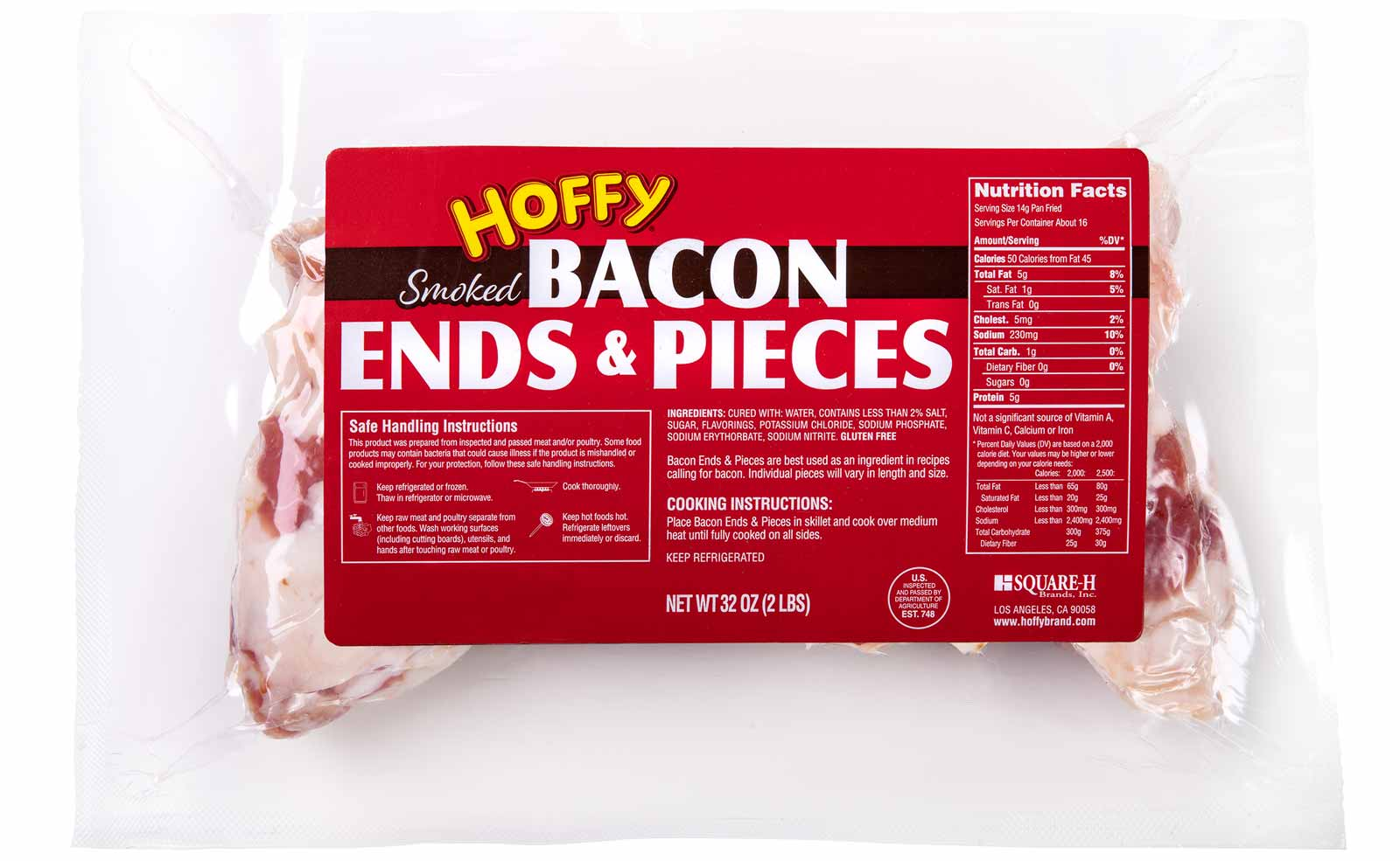 Hoffy Bacon Ends & Pieces Packaging